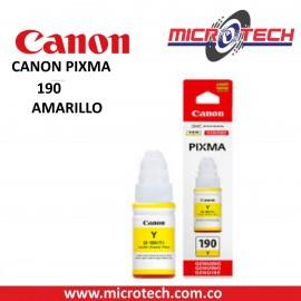 BOTELLA DE TINTA CANON GI-190BK AMARILLO