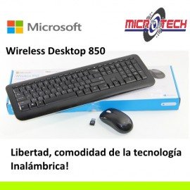 combo Microsotf Wireless Desktop 850