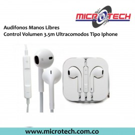 Manos Libres Control Volumen 3.5m Tipo Iphone