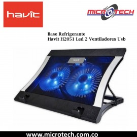 Base Refrigerante Havit H2051 Led 2 Ventiladores Usb