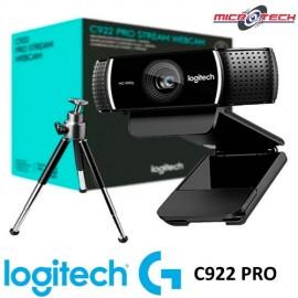 Camara Web Logitech C922 Pro Streaming Full Hd 1080p Tripode