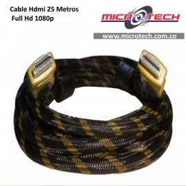 CABLE HDMI ENMALLADO 25M