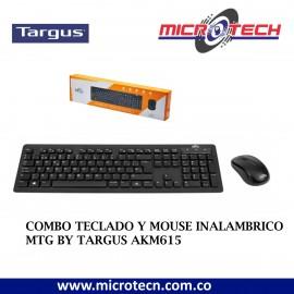 COMBO TECLADO Y MOUSE INALAMBRICO MTG BY TARGUS AKM615