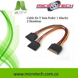 Cable En Y Sata Poder 1 Macho 2 Hembras