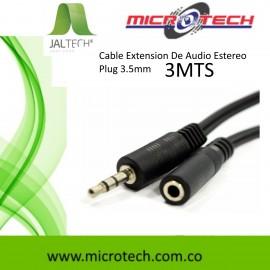 Cable Extension De Audio Estereo Plug 3.5mm 3Mts.