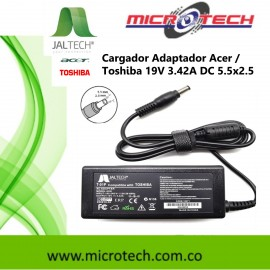 Cargador Adaptador Acer/ Toshiba 19v 3.42a 5.5x2.5 Cable