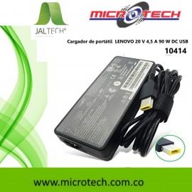 Cargador de portátil LENOVO  20 V 4,5 A 90 W DC USB