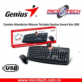 Combo Alambrico Mouse Teclado Genius Smart Km-200