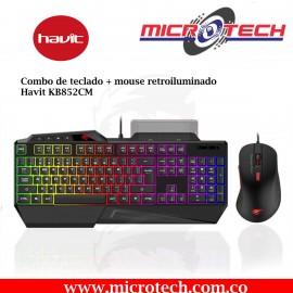 Combo de teclado + mouse retroiluminado Havit KB852CM