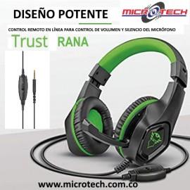Audifono Diadema Gamer Trust Gxt 404g Rana