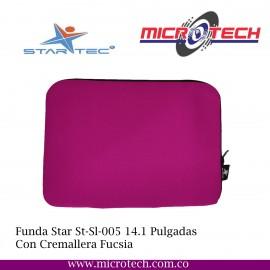 Funda Star St-Sl-005 14.1 Pulgadas Con Cremallera Fucsia