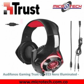 Audifono Gamer Trust Gxt 313 Nero Illuminated Negro Pc