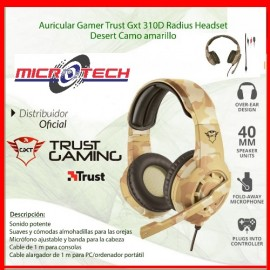 Auricular Gamer Trust Gxt 310 Radius Gaming Headset Pc Ps4