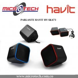 ALTAVOCES PUERTO USB 2.0 CUADRADO  HV-SK473
