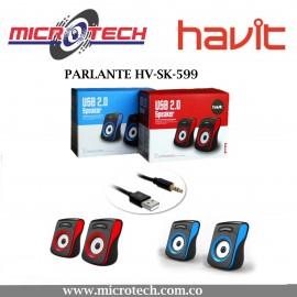 Parlante Havit Para Pc 2.0 Hv-sk599