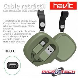 Cable Tipo C Havit Retractil H641