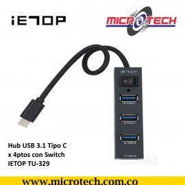 Concentrador de 4 puertos de supervelocidad USB3.0
