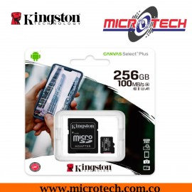 Kingston Tarjeta microSD 256GB Canvas Select Plus - SDCS2/256GB