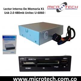 Lector Interno De Memoria X1 Usb 2.0 480mb Unitec U-6060 Pc