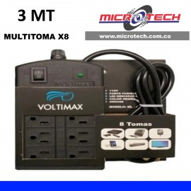 Multitoma VOLTIMAX 8 Tomas 3 Metros De Cable