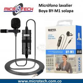 Microfono Lavalier Solapa Boya By-m1 Para Cámaras Dslr Y Cel