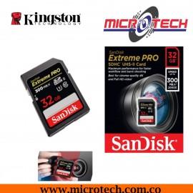 Memoria SDHC SanDisk 32GB Extreme Pro 300MB UHS-II SDS