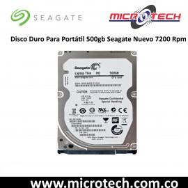 Disco Duro Para Portátil 500gb Seagate Nuevo 7200 Rpm