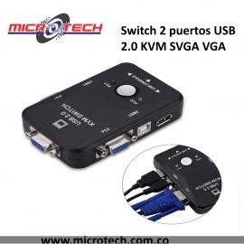 Switch 2 puertos USB 2.0 KVM SVGA VGA