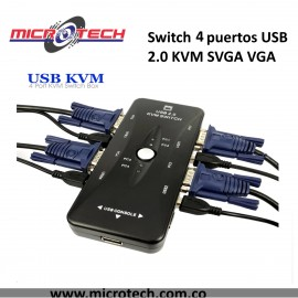 Switch 4 puertos USB 2,0 KVM