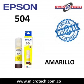 Botella de Tinta Epson 504 Amarillo Original