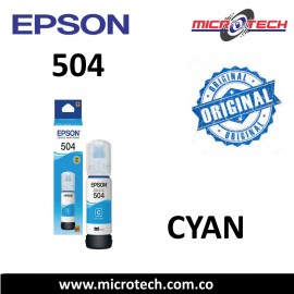 Botella de Tinta Epson 504 Cyan Original