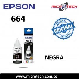 664 TINTA EPSON ORIGINAL NEGRO EN CAJA 70 ML
