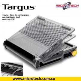 Base Targus  de enfriamiento de ventilador dual con conexión USB