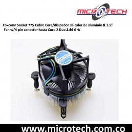 Disipador de calor de cobre y ventilador hasta 2.66 GHz