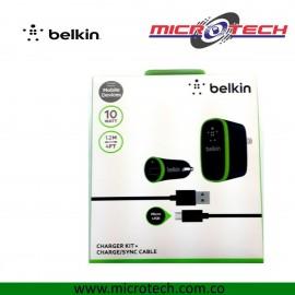Cargador Belkin Original 3 En 1 / Micro Usb / 2.1 Amp