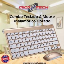 HK - 3910 2.4GHz teclado inalámbrico + ratón - Dorado