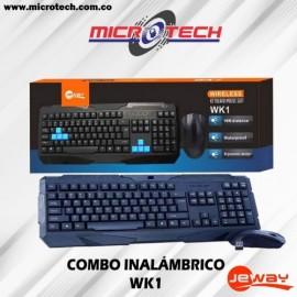 Combo Teclado Mouse Inalambrico Jeway Wk1