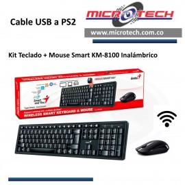 Kit Teclado + Mouse Smart KM-8100 Inalámbrico