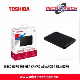 DISCO DURO TOSHIBA CANVIO ADVANCE, 1 TB, NEGRO