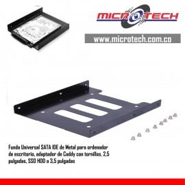 Caddy con tornillos, 2,5 pulgadas, SSD HDD a 3,5