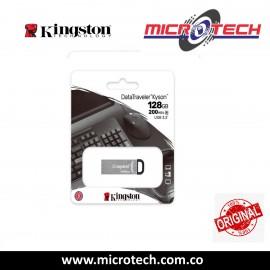 Memoria USB Kingston DataTraveler Kyson, 128GB, USB 3.0, Plata