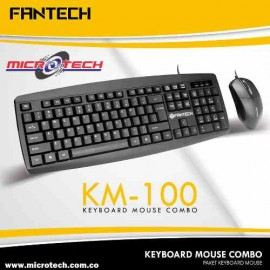 Keyboard Mouse Fantech KM 100