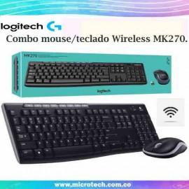 Combo Inalambrico Teclado Y Mouse Logitech Mk270