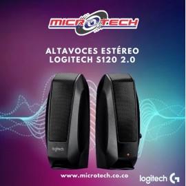 Logitech S120, Altavoces Estéreo Ac, Control Volumen / 3.5mm