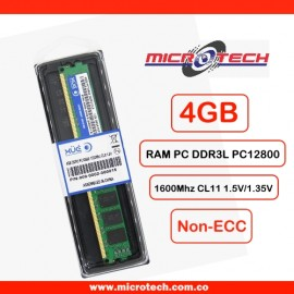 RAM PC DDR3L PC12800 4GB 1600Mhz CL11 1.5V/1.35V XUE