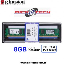 MEMORIA RAM PC DDR3L PC12800 8GB 1600Mhz CL11 1.5/1.35V
