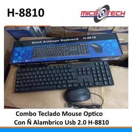 Combo Teclado + Mouse Alambrico H-8810