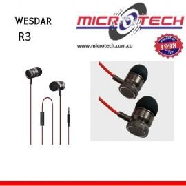 Audífonos Manos Libres Wesdar R3