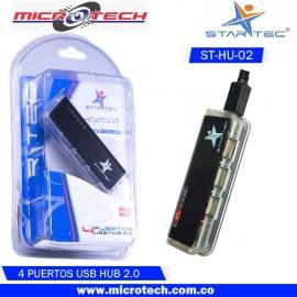 Hub Star Tec 2,0 Usb Transp/black