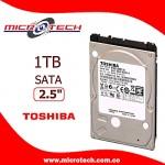 """Disco Duro Interno Toshiba,1TB, 2.5"""" SATA, Para portátil"""